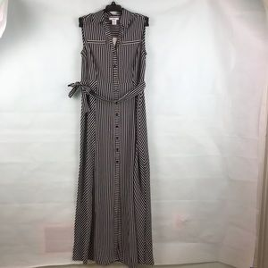 NWT Black and white striped maxi dress XXS